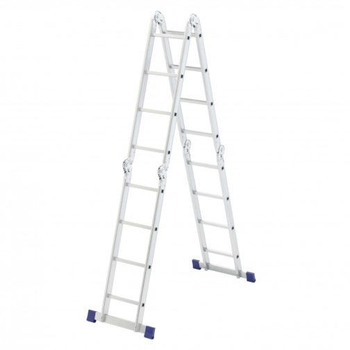 Лестница шарнирная алюминиевая, 4 х 4 ступени, Россия, Сибртех 97882