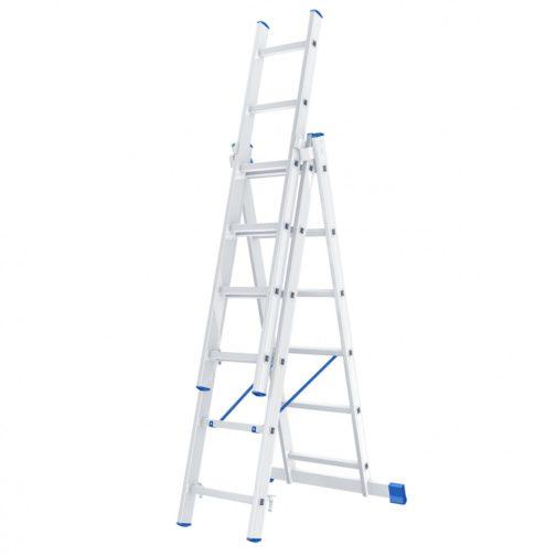 Лестница, 3 х 6 ступеней, алюминиевая, трехсекционная, Россия, Сибртех 97816