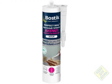 Герметик BOSTIK акрил мокрым по мокрому белый 300мл