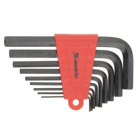 Набор ключей имбусовых HEX, 2,0-12 мм, CrV, 9 шт, оксидированные Matrix 11222