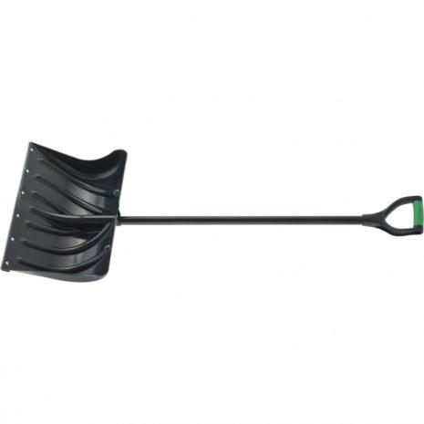 Лопата для уборки снега пластиковая, 500х325х1300 мм, металлопластиковый черенок, Palisad 61501
