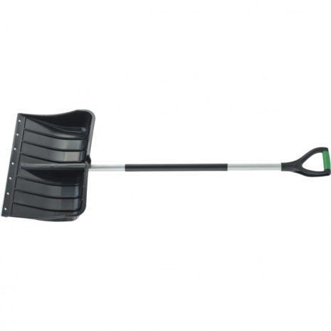 Лопата для уборки снега пластиковая, 540х375х1520 мм, стальной черенок,стальная планка, Palisad 61568