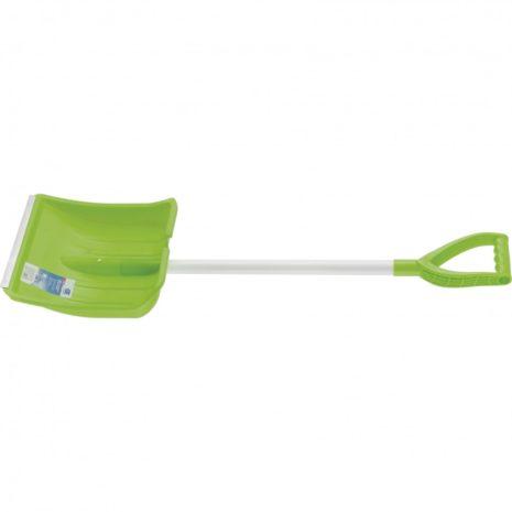 Лопата-движок для уборки снега пластиковая, 615х290х1520 мм, стальной черенок, Palisad 61481