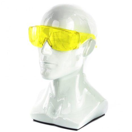 Очки защитные открытого типа, желтые, ударопрочный поликарбонат Россия Сибртех 89157